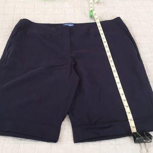 Simply Vera navy Bermuda shorts